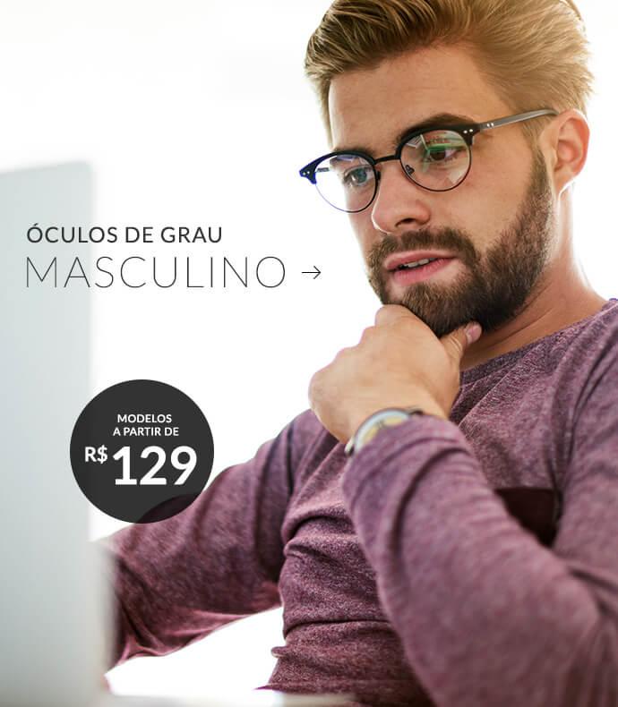 d18c73b75f172 Óculos de Grau Masculino